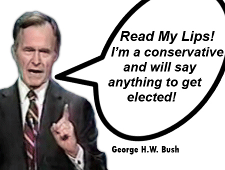 George Bush lies