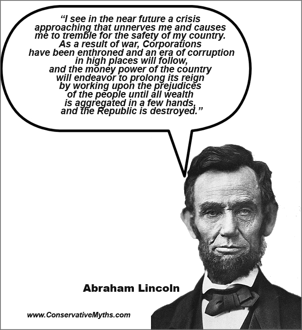 Abraham Lincoln on corporations