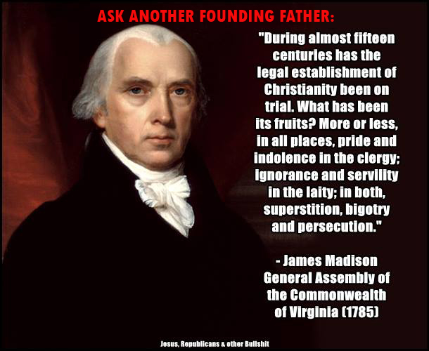 James Madison on America's Christianity