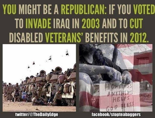 Conservatives have always shafted active duty personnel and veterans