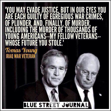 Bush and Cheney war criminals